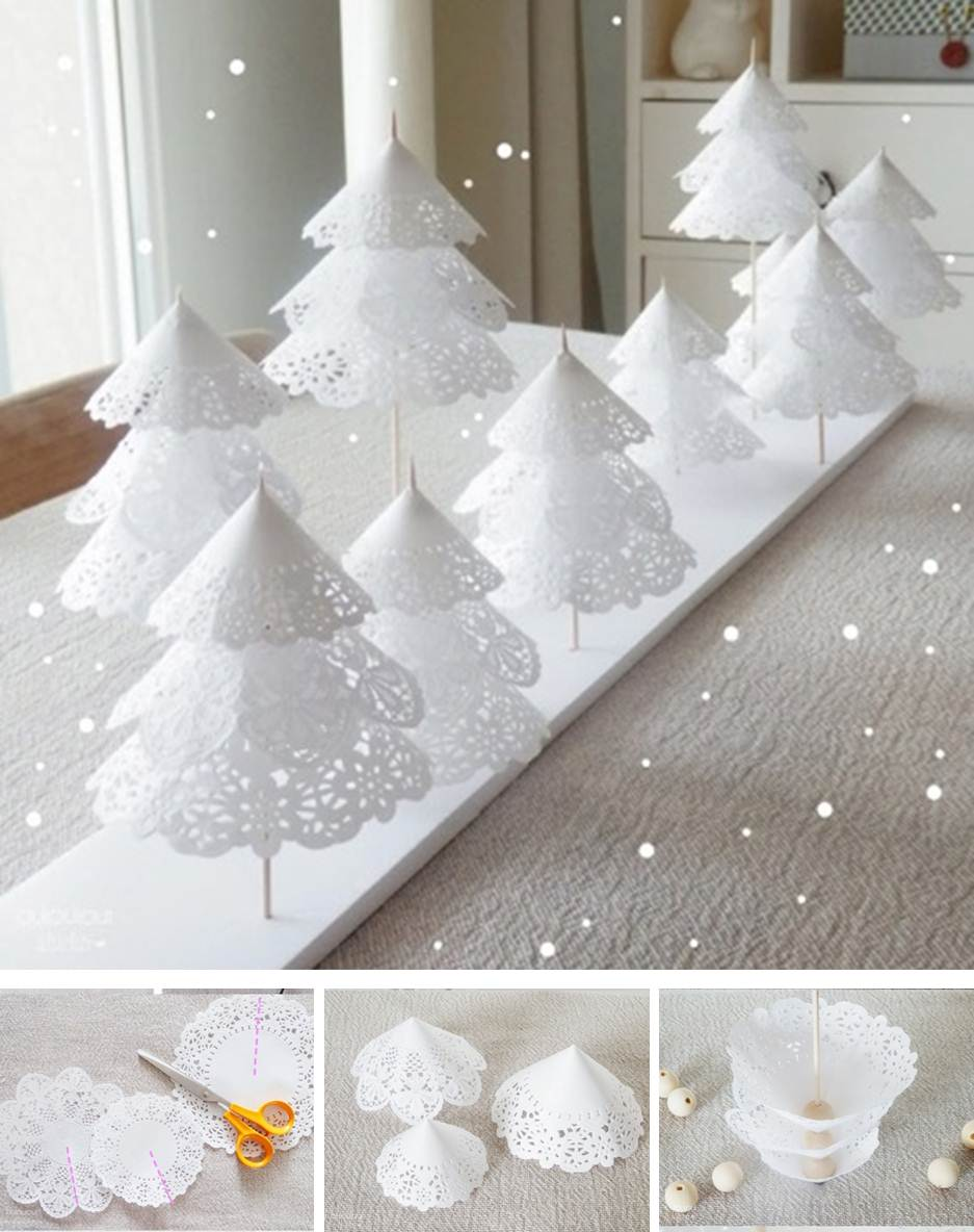 Miniature Decorated Christmas Trees