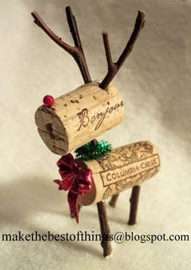WhimsyPaper - Holiday DIY - CorkReindeer